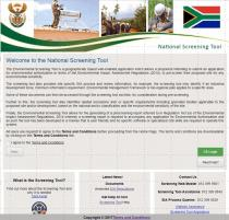Demonstration of South Africa's National Environmental Screening Tool